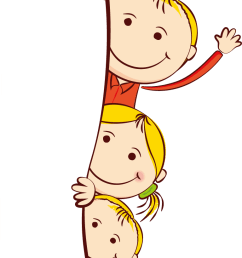 cute frame kids cartoon child free clipart hd [ 768 x 1498 Pixel ]
