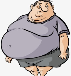 fat cartoon man fat and skinny person free transparent png  [ 820 x 1003 Pixel ]