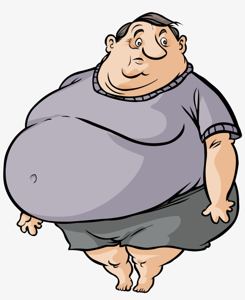 hight resolution of fat cartoon man fat and skinny person free transparent png