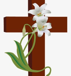 church clipart watercolor cross with flowers clip art png image  [ 820 x 1071 Pixel ]