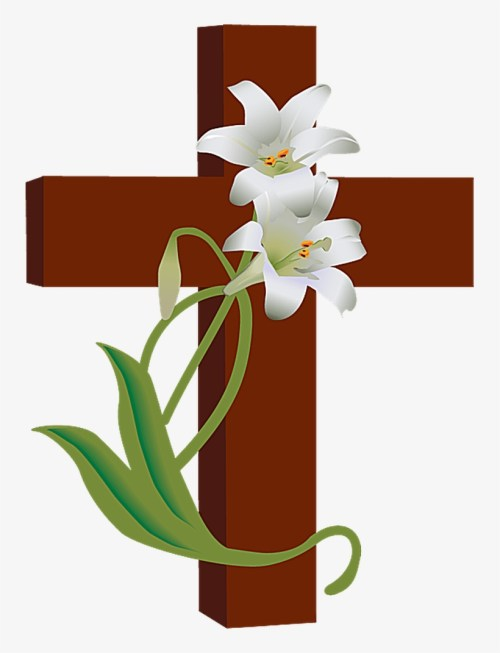 small resolution of church clipart watercolor cross with flowers clip art png image