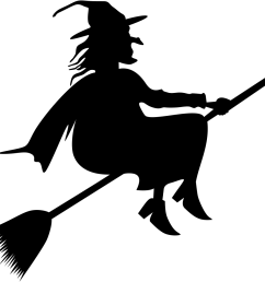 download broom riding witch silhouette flying witch clipart  [ 969 x 935 Pixel ]