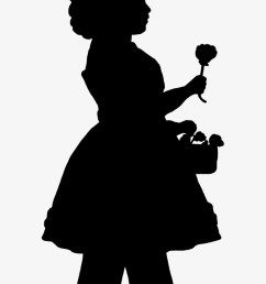 victorian silhouette clipart svg black and white flower girl  [ 820 x 1186 Pixel ]