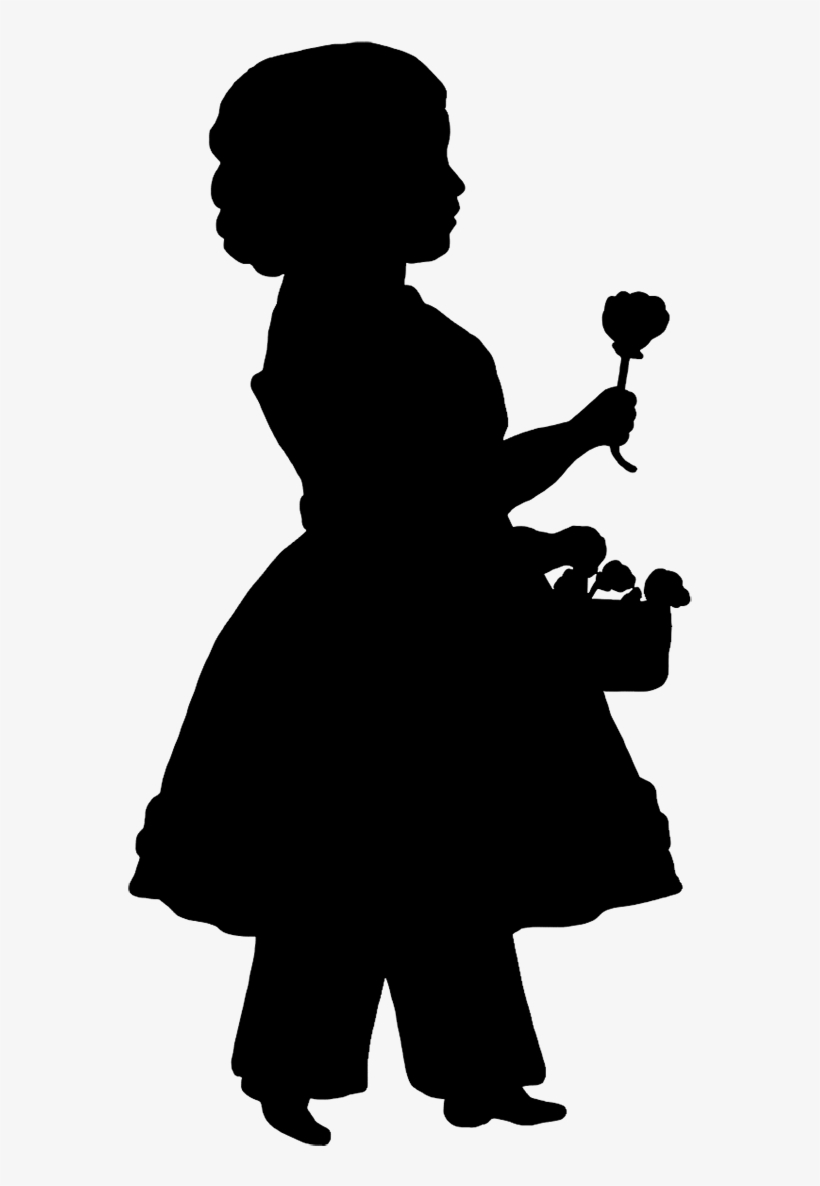 hight resolution of victorian silhouette clipart svg black and white flower girl