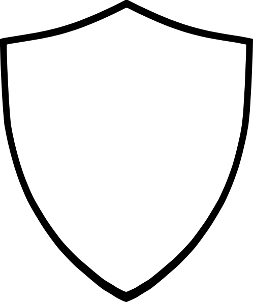 Download Free png Shield Clip Art Black And White PNG