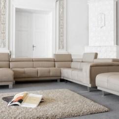 Sofa Narozna Bizzarto Small Leather Sectional With Chaise Nowoczesny Narożnik Ascot Beżowa Zobacz