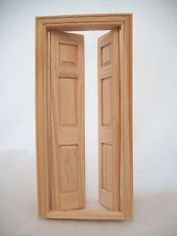 Door - Split Interior Dollhouse miniature wooden #6031 1 ...