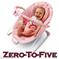 Bright Starts Pretty in Pink Melodies Baby Bouncer Seat