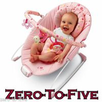 Bright Starts Pretty in Pink Melodies Baby Bouncer Seat | eBay