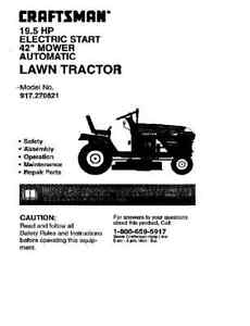 Craftsman-Lawn-Tractor-Operators-Manual-917-270821
