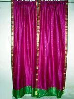 Silk Sari Curtains Drapes Panels EBay