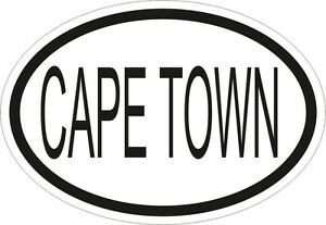 Cape Town City Country Code Oval Sticker Bumper Vinyl
