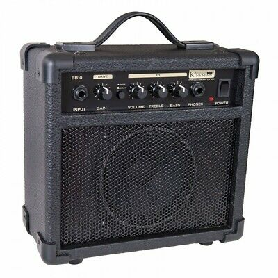 KINSMAN 10W PRACTICE ELECTRIC GUITAR AMPLIFIER With FREE SET OF STRINGS