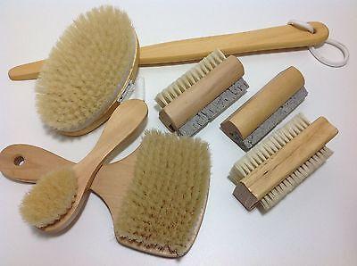 Holz Bürste Naturborste Saunabürste Gesichtsbürste Nagelbürste Badebürste Bims