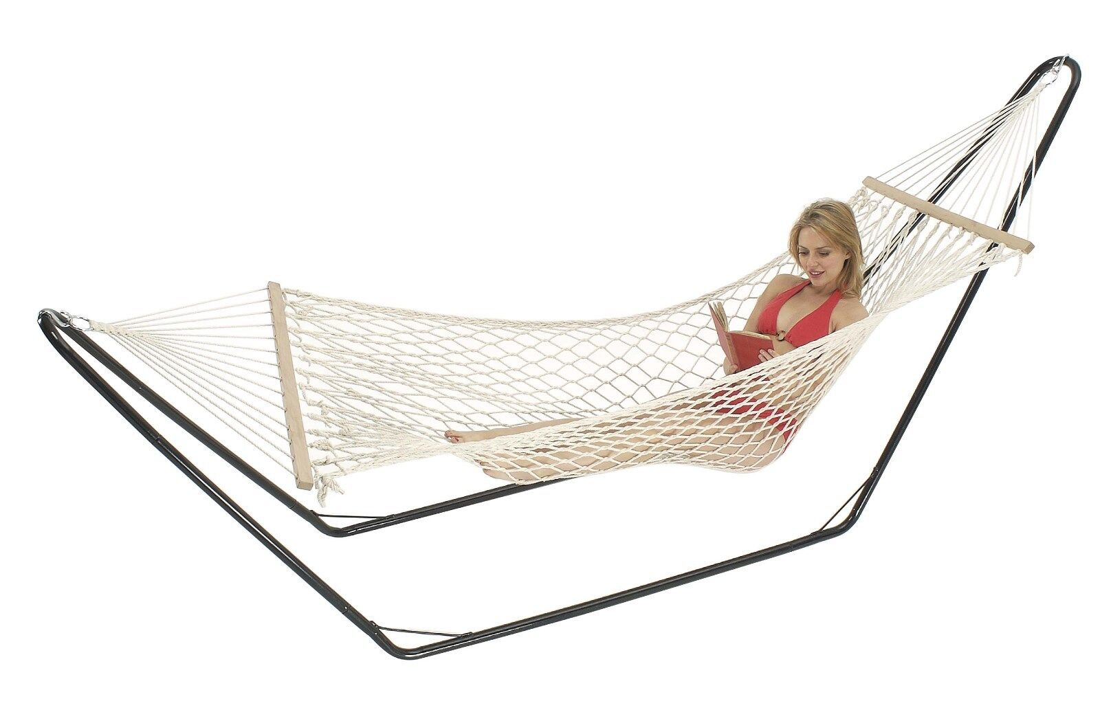 Double Hammock 5mm Cotton Rope Strong Portable Comfortable