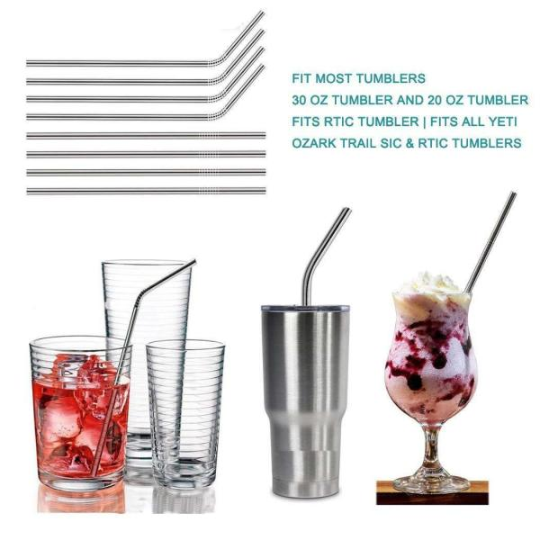 10.5 Stainless Steel Straws | Easy To Clean and Reusable 3