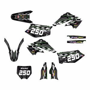 2004 2005 KX 250f Graphics Kit Kawasaki KXF250 Decals for