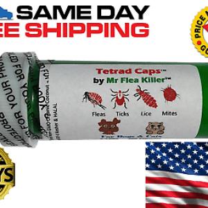 8 Capsules Tetrad Cap Dog Cat 26-75lb Rapid Flea Tick Lice Pill Killer Control 3