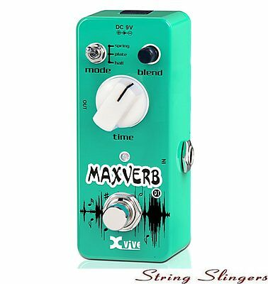 Xvive D1 Mini Maxverb Digital Effects Pedal, XD1