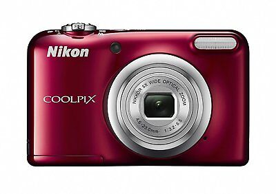 Nikon Coolpix A10 16.1 MP 5x Optical Zoom Compact Digital Camera Red A10RD