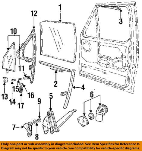 FORD OEM 9698 F250 Front DoorWindow Motor F6TZ15233V94AARM