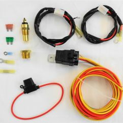 Automotive Cooling Fan Relay Wiring Diagram Whirlpool Dryer Heating Element New Dual Electric Install Kit 185 165