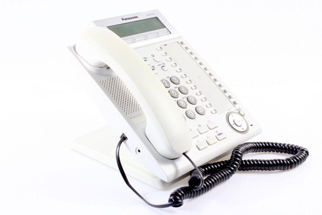 Panasonic KX-DT333  Systemtelefon weiß (Gehäuse minimal vergilbt) inkl. MwSt.