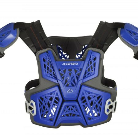 Pettorina motocross Acerbis Gravity blu cross enduro adatta collare MTB Offroad
