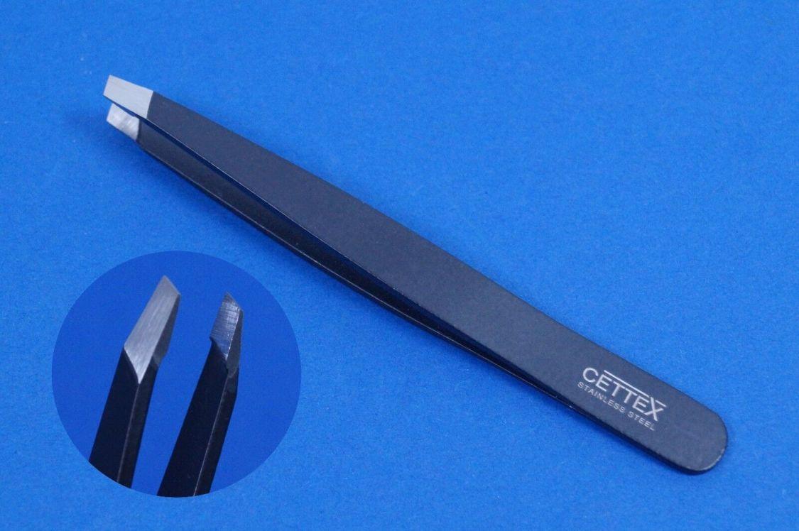 Pinzette Augenbraunen Pinzette Zupfpinzette Zupfpinzette in schwarz schräg