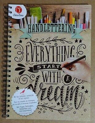 Handlettering Buch und 4 x Kalligraphie Stifte Set