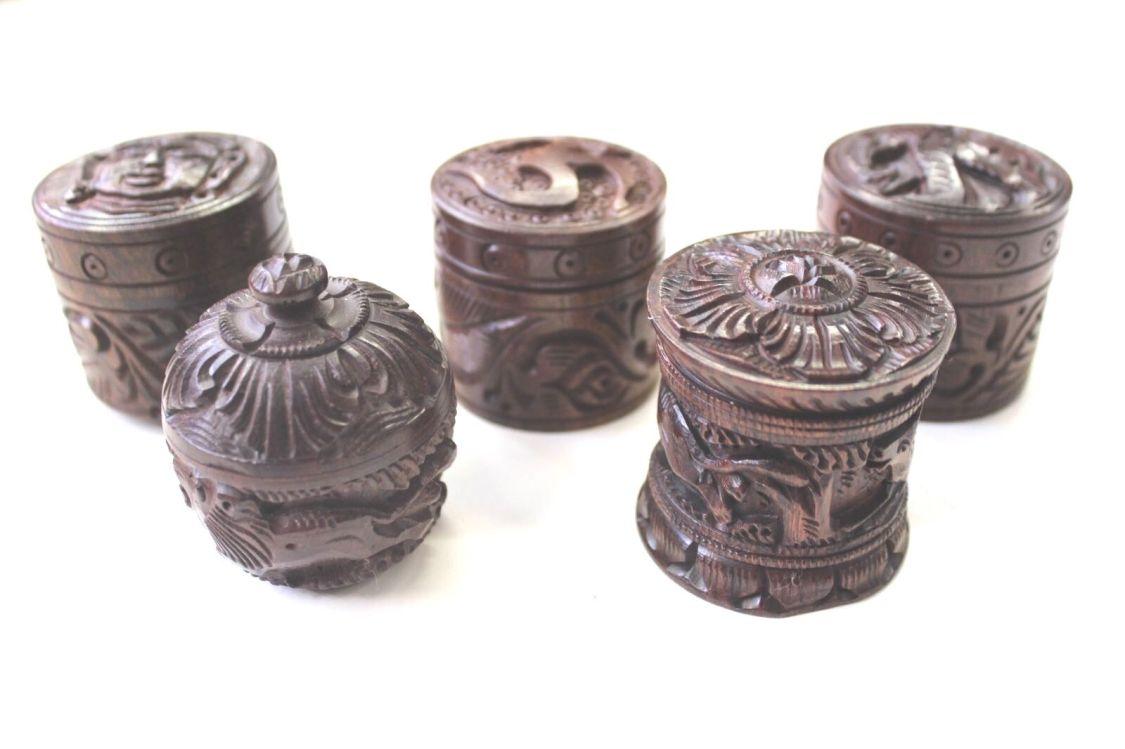 Holzdose mit Schraubdeckel Pillendöschen Zahnfee Schmuckdosen Milchzahn-Dose