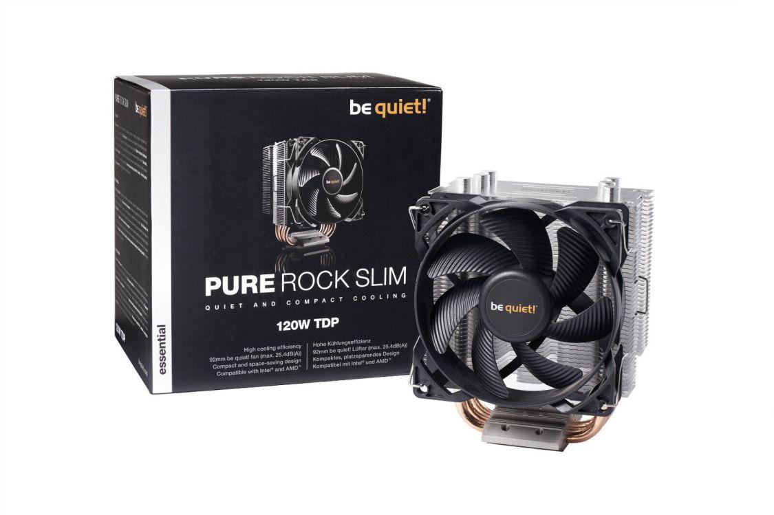 be quiet! Pure Rock Slim, CPU-Kühler (Intel 1150, 1151, 1155, 1156, AMD3, AM4)