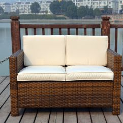 Rattan 2 Seater Sofa Cover Next Day Beds Wicker Conservatory Outdoor Garden Furniture Patio ...