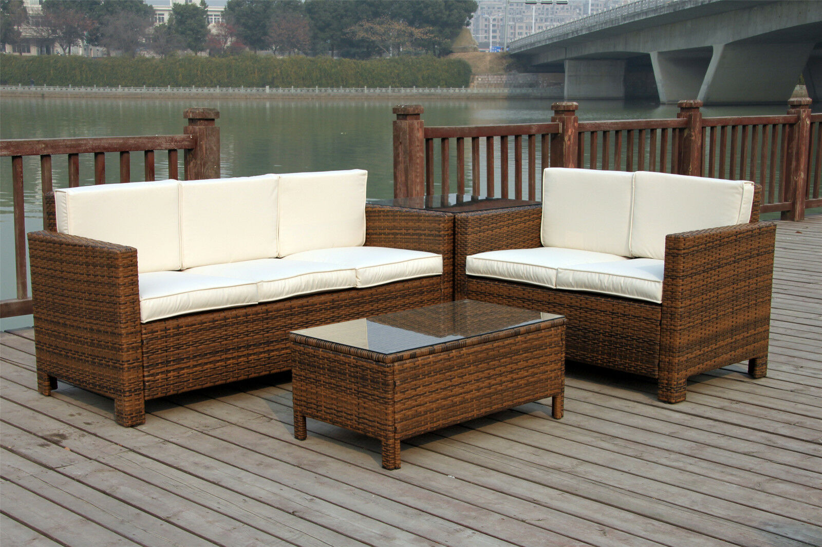 rattan outdoor sofa sets uk covers amazon garden wicker patio furniture conservatory
