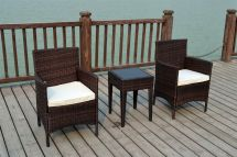 Outdoor Wicker Bistro Table and Chairs