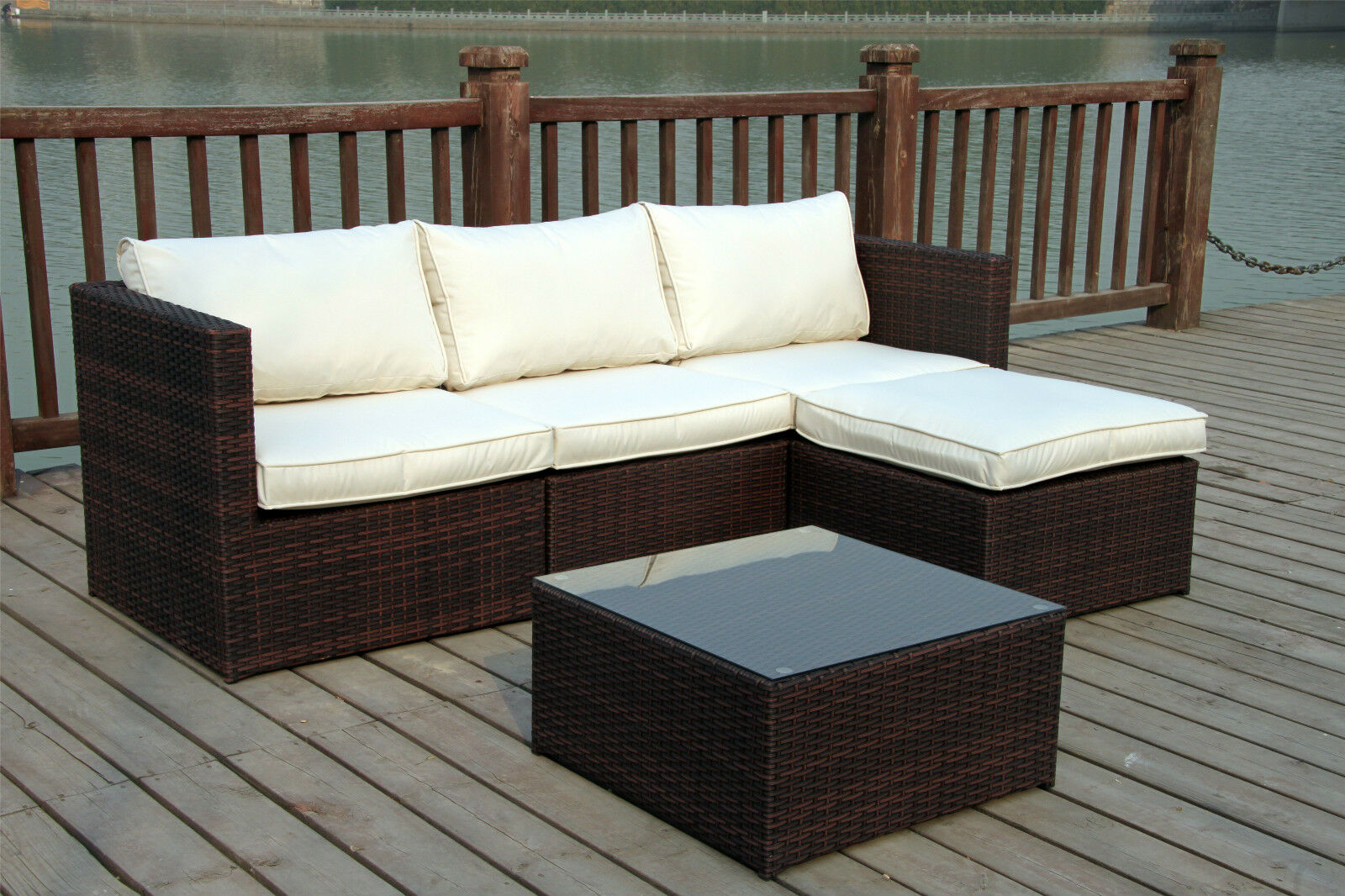 wicker sofa uk corner beds next day delivery new rattan conservatory outdoor garden furniture