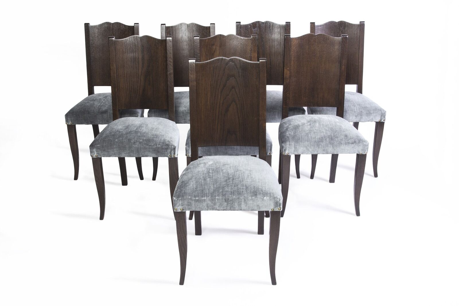 Art Deco Dining Chairs Stunning Set Of Eight Art Deco Dining Chairs By Alfred Porteneuve
