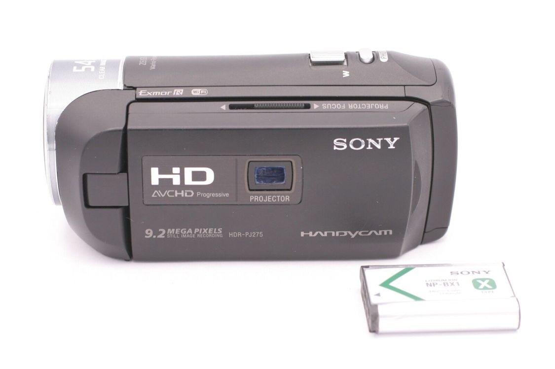 Sony HDR-PJ275 9.2MP 8GB HD Flash Memory Camcorder - Schwarz