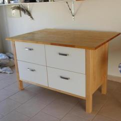 Ikea Freestanding Kitchen Metal Shelving Varde Island With Drawers | Roselawnlutheran