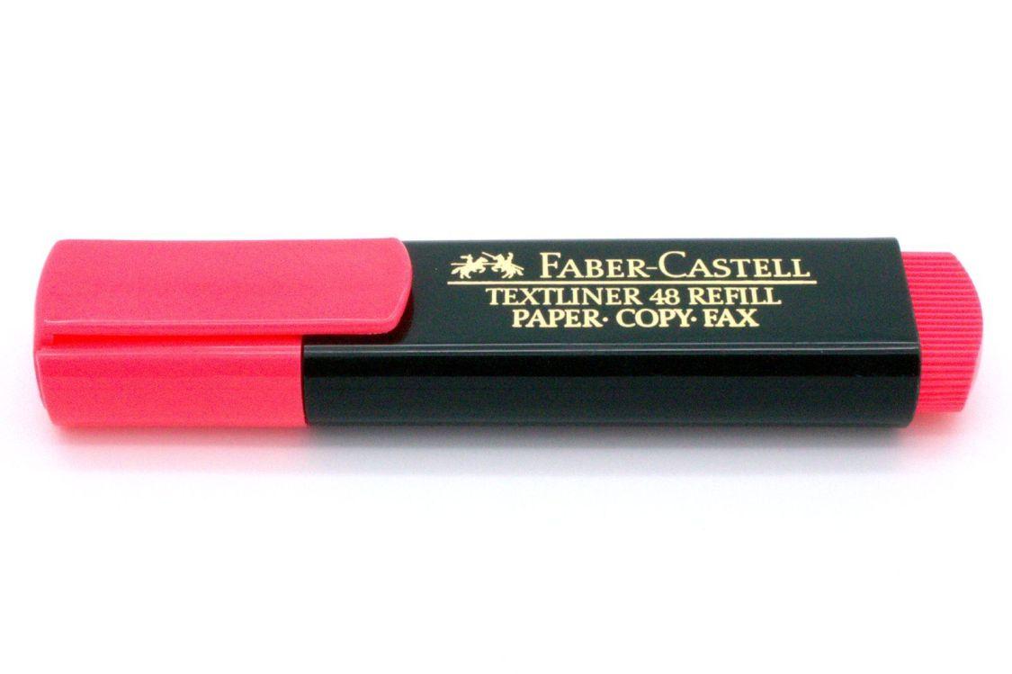FABER-CASTELL Textmarker TEXTLINER 48 REFILL, rot