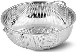 kitchen colander free standing pantry utopia stainless steel micro perforated strainer