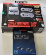 SNES Mini Classic Edition Authentic Used Modded 726 Games + 2 Extensions!!