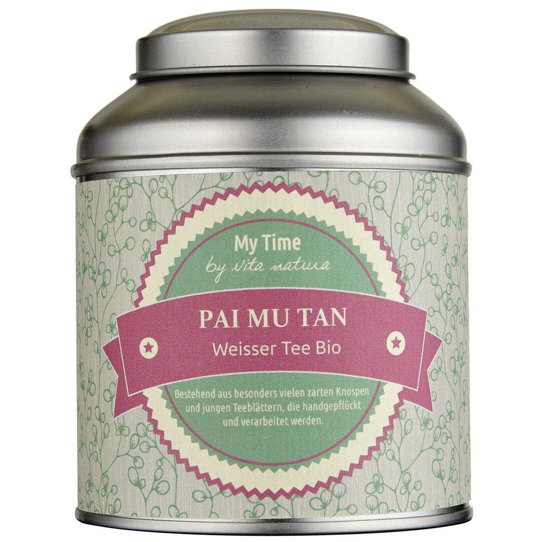 MY TIME | Pai Mu Tan | Weißer Tee Bio | First Flush | Handgepflückt | 65 g