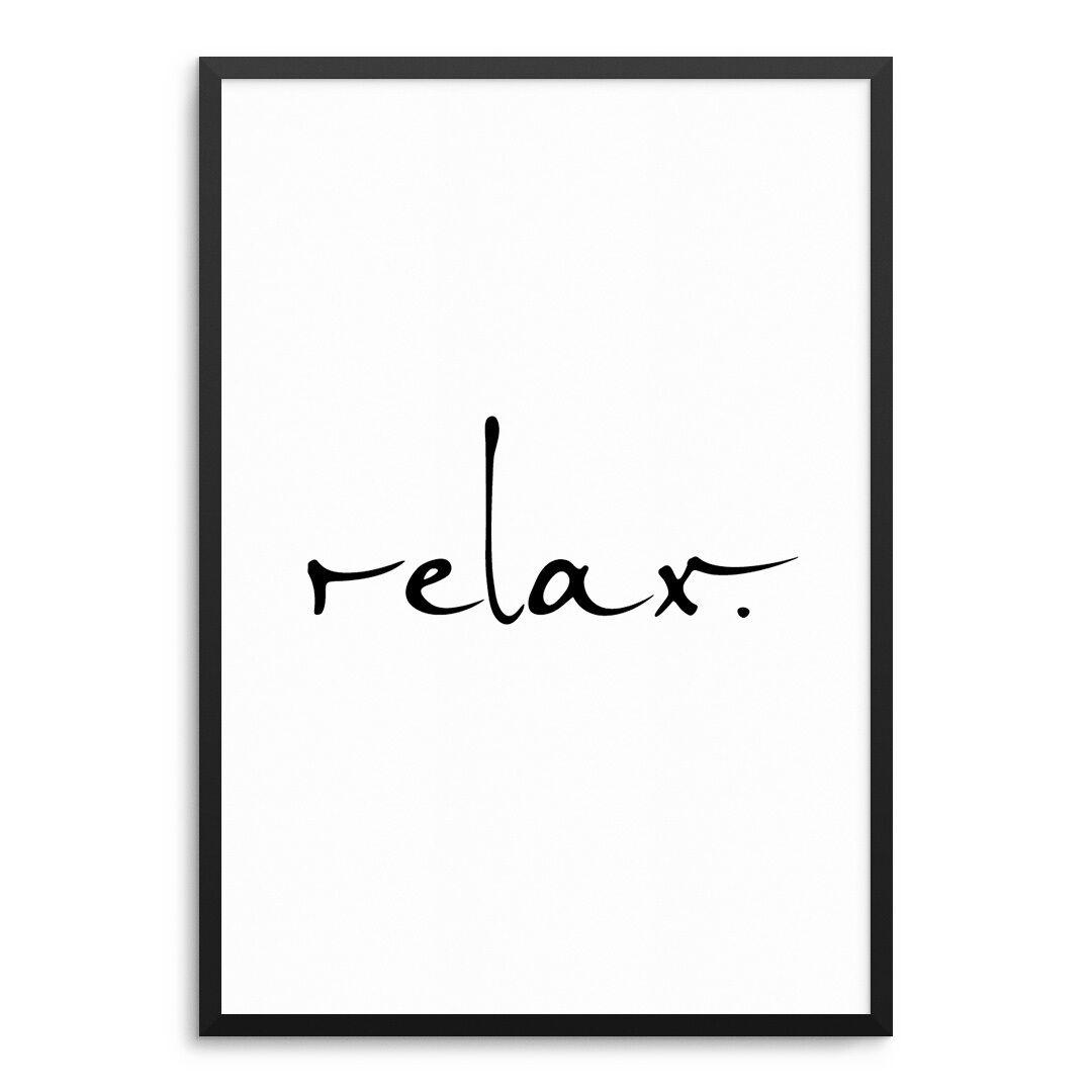 Poster Relax Kunstdruck ArtPrint Druck Print Spruch Meditation Yoga Entspannung