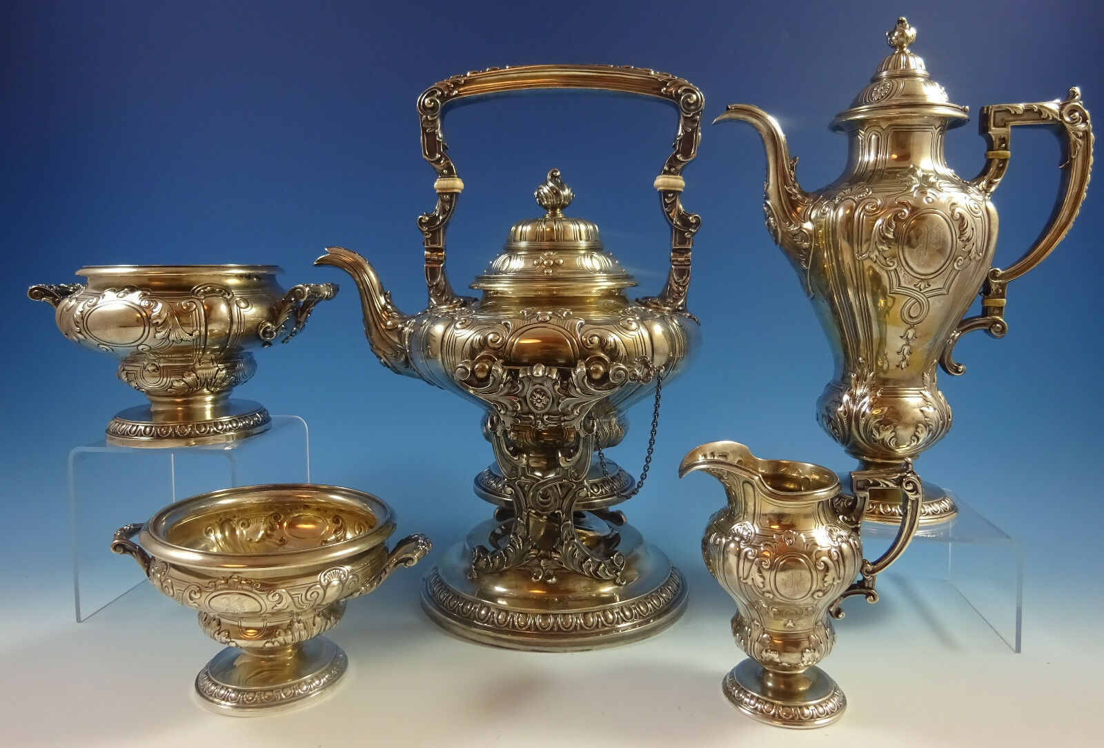 King George Gorham Sterling Silver Tea Set 5pc #1293