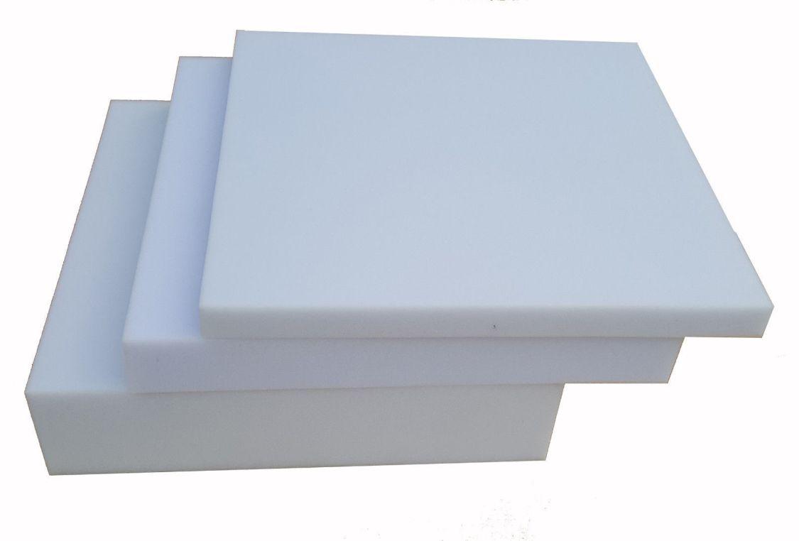 Schaumstoffplatte 40x40 Schaumstoff Polster Zuschnitt Matratze weiß-grau RG25/44