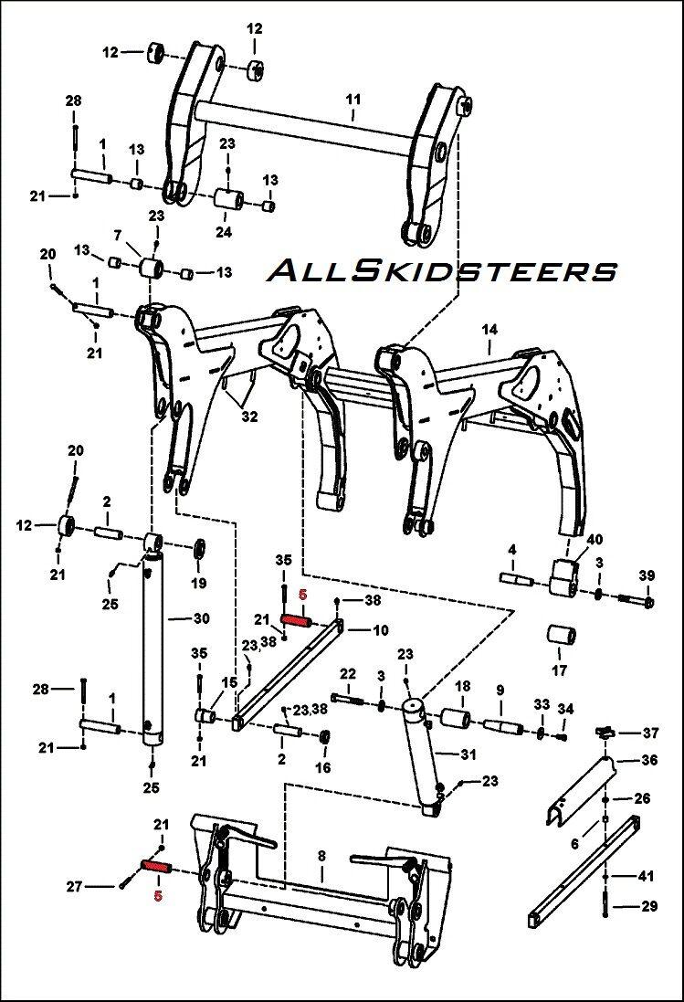 Bobcat bobtach Cyl Pivot Pin S150 S160 S175 S185 S205 T180