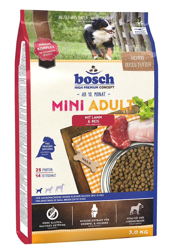 Bosch Mini Adult Lamm und Reis 3kg Trockenfutter für kleine Rassen Hundefutter