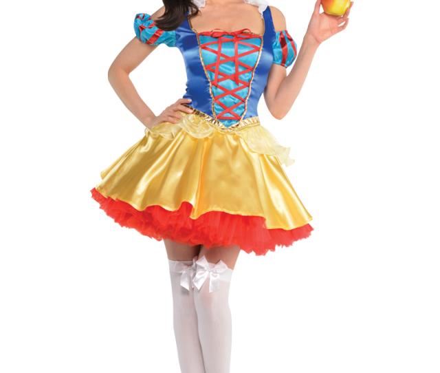 Ladies Sexy Snow White Princess Carnival Fancy Dress Costume Uk