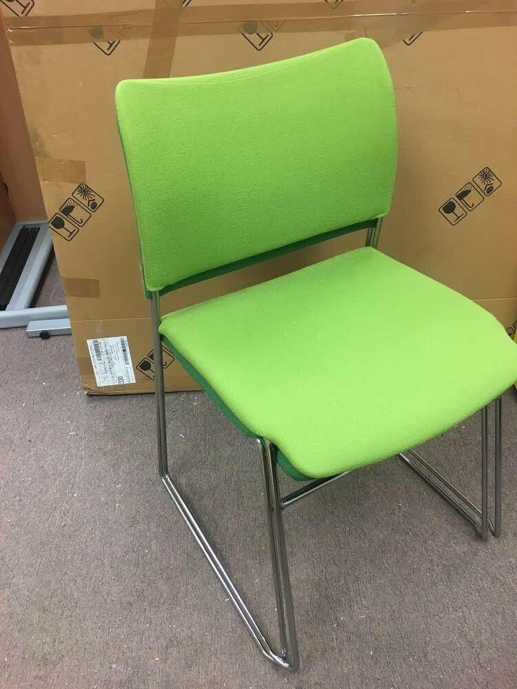 retro chrome chairs mid century high back chair senator elias stacking meeting office
